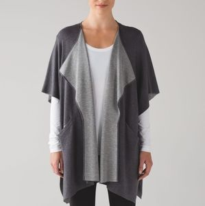 Lululemon After Asana Wrap Gray One Size